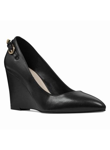 Nine West Dolgu Topuklu Ayakkabı Siyah